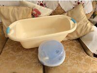 Baby bath and steriliser