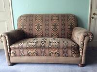 Vintage sofa and 2 matching chairs