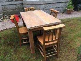Oak Farmhouse dining set