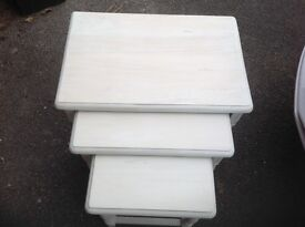 3 shabby chic coffee tables cream in colour