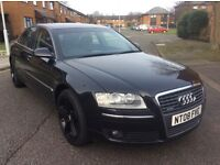 Audi A8 3.0 tdi Quattro automatic fsh 2008 leather seats Bose sound system sunroof