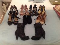 Seven pairs of ( good quality ) ladies shoes plus one pair of boots size 4 ..the lot £20