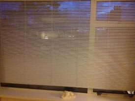 Large White Modern Venetian Blind.