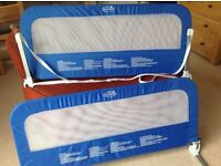 Easy-fit Bed Guard -Blue. Twin pack for use singly or linked together on both sides of bed