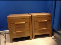 2 x Next 2 Drawer Bedside Cabinets