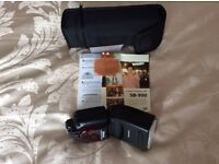 Nikon SB900 flash gun accessories colour filters diffusion dome case manual hardly used .£150