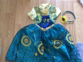 Anna from frozen dress up costume