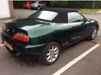 MG MGF 1.6. British Racing Green