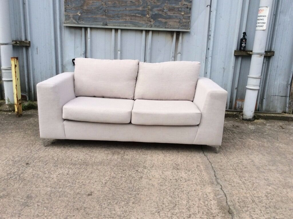 Brand New Silver Grey 3 Seater Sofa with Chrome Feet - £150 Including Free Local Delivery