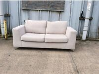Brand New Silver Grey 3 Seater Sofa with Chrome Feet - £199 Including Free Local Delivery
