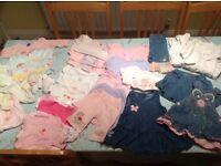 Newborn/0-3 months baby girl clothes bundle