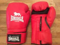 Lonsdale Red Padded Adult Boxing Gloves