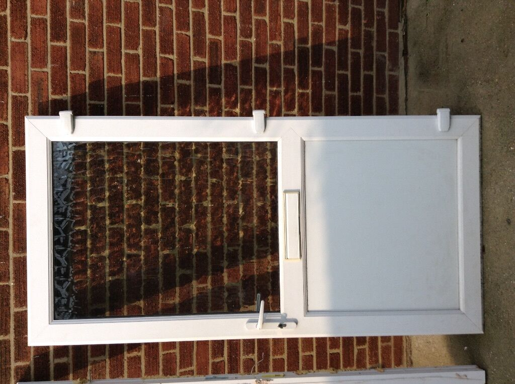 Double glazed door with frame locks and keys 40 in for Double glazed door and frame
