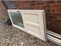 External wooden door double glazed