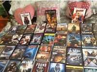 60 DVDs all Original all boxed all great condition,,HORROR. THRILLER. SCI FI ,,AND ACTION..