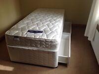 Silentnight single divan base and mattress