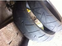 conti road attack 2 tyres 120/180 front and rear