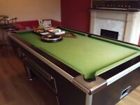 7ft x 4ft Pool Table Slate Bed w/ Accessories