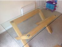 Glass & Oak 6 Seater dining table