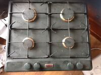 Stoves 600 green heritage gas 600 mm hob. Fully working just in need of a good clean.