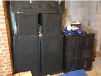 10k + PA System including speakers, all cables and amps fitted in wired & wheeled flight case