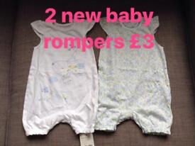 New Baby Rompers