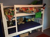 Kids bunkbed with mattresses