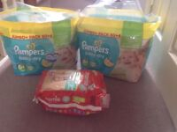 3 packs of Nappies