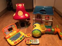 Large Bundle of toys ( inc Doll house, Magic Mushroomed, Laptop and pop up balls )