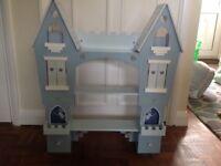Fairy princess castle wall mounted shelves