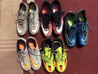 FOOTBALL BOOTS SIZES 5-7 / ALL FIRM GROUND / USED