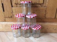 empty Bonne Maman jam jars 300ml / 11oz - x6