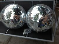 Large party mirror balls x2