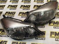 2012 TOYOTA YARIS FRONT HEADLIGHTS PAIR LEFT RIGHT N/S O/S