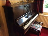 Meinel upright piano and stool