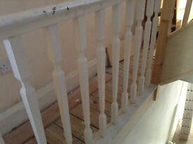 wooden hardwood spindle spindles stair vintage x 10