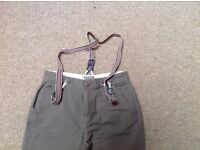 boys Ted Baker trousers ans braces age 10