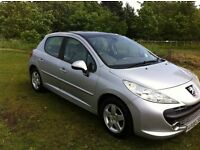 A STUNNING LOW MILAGE 2008 PEUGEOT 207 SE 1.4 16V WITH A CIELO PANORAMIC SUNROOF, FSH AND 12 MTH MOT
