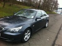 BMW 5 Series 2.0 520d SE 4dr Reg 2007 Grey Automatic with window curtains 98600 mileage