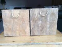 2 IKEA Kottebo coconut palm leaf storage boxes / baskets 32x34x32cm £20