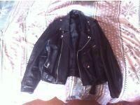 Vintage Punk Biker Leather Jacket Coat