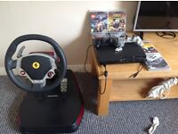 PS3 with farrago steering wheel pedal set 6xgames