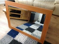 Solid wooden framed mirror 3x2ft