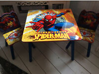 Child's Marvel Table and 2 Chairs