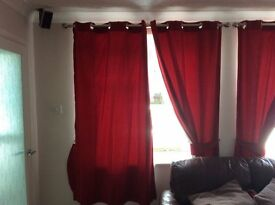 Red Blackout Curtains, very good condition.