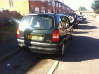 Vauxhall zafira 7 seater 1.6 petrol