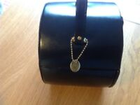 Genuine Black Leather Dulwich Designs Jewellery box and travel jewellery box