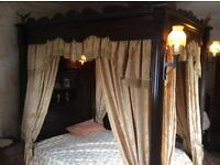 Stunning comes out of a manor antique four poster carved