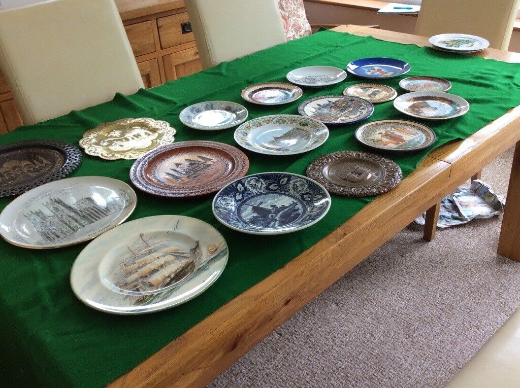 Collection of decorative wall plates