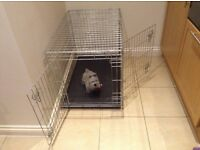 LARGE SILVER DOG CAGE 2 DOOR